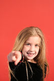 Young girl pointing Stock Photos