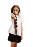 Young girl pointing at you Stock Photography