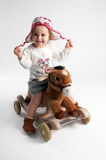 Young girl on pony Royalty Free Stock Photo