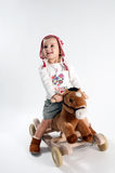 Young girl on pony Royalty Free Stock Image