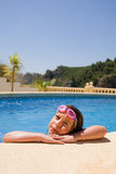 Young Girl in Pool. Shot of a Young Girl in Pool Stock Photography