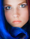Young girl portrait. Pretty young girl portrait with wide open eyes Royalty Free Stock Image