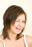Young girl portrait. Young smiling girl studio shot Royalty Free Stock Images
