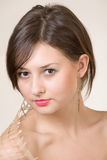 Young girl portrait. Young caucasian girl studio shot Royalty Free Stock Images