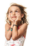 Young girl portrait blowing hair Royalty Free Stock Photography