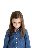 Young girl portrait frustrated pouting frowning Royalty Free Stock Photo