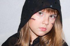Young girl portrait Haloween Stock Photography