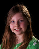 Young girl portrait wearing green Royalty Free Stock Photo