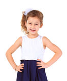 Young girl poses for a picture Royalty Free Stock Images