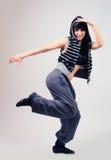 Young girl posing. Young girl dancing modern dance royalty free stock photography