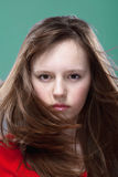 Young girl posing as a model Stock Photography