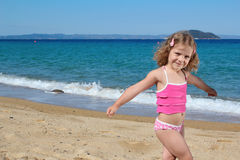 Young girl posing on the beach Royalty Free Stock Images