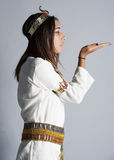 Young girl posing in egyptian clothing Stock Images