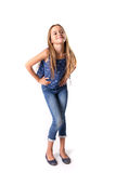 Young girl posing in jeans Stock Photo