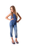 Young girl posing in jeans Stock Image