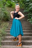 Young girl posing outdoors Royalty Free Stock Photos