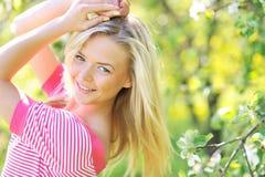 Young girl posing outdoors - closeup Stock Image