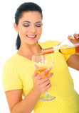 Young Girl Pouring Wine Stock Photos