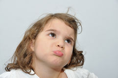 Young girl pouting Royalty Free Stock Photo