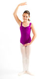 Young girl practicing her ballet. Royalty Free Stock Image