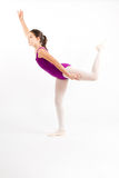 Young girl practicing her ballet. Royalty Free Stock Photography
