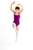Young girl practicing her ballet. Royalty Free Stock Images