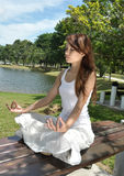 Young girl practicing yoga Stock Photography