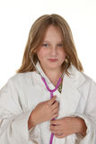 Young girl pretending to be a doctor Royalty Free Stock Photo