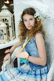Young girl in provence style Royalty Free Stock Photography