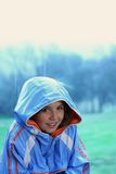 Young girl in the rain Royalty Free Stock Photos