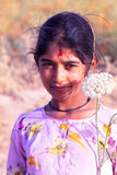 Young girl in Rajasthan Stock Images