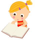 Young girl reading book Royalty Free Stock Images
