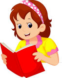Young girl reading a book Royalty Free Stock Photos