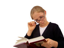 Young Girl Reading Book Stock Photography