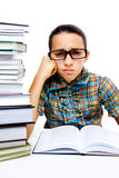 Young girl reading books Stock Photography