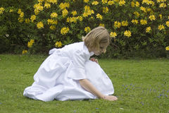 Young girl ready for first holy communion Stock Photo