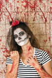 Young girl ready to celebrate Halloween Royalty Free Stock Photos