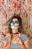 Young girl ready to celebrate Halloween Royalty Free Stock Photography