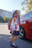 Young girl ready to go to school Stock Photo