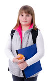 Young girl ready to school Stock Image
