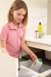 Young Girl Recyling Waste Royalty Free Stock Photo