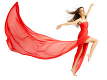 Young girl in red cloth Stock Image