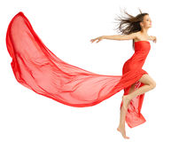 Young girl in red cloth Stock Photo
