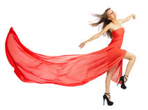 Young girl in red cloth Royalty Free Stock Photo