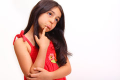 Young girl in red dress Stock Photo