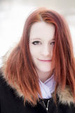 Young girl with red hair Royalty Free Stock Photos