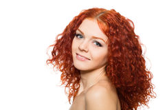 Young girl with red hair Stock Photo