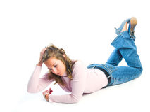 Young girl relaxing Stock Photography