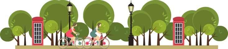 Young girl riding a bike ride in the park Stock Photography
