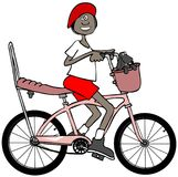 Young girl riding her bicycle Royalty Free Stock Image